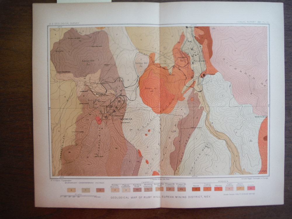 Geological Map of Ruby Hill,Eureka Mining District, Nev.