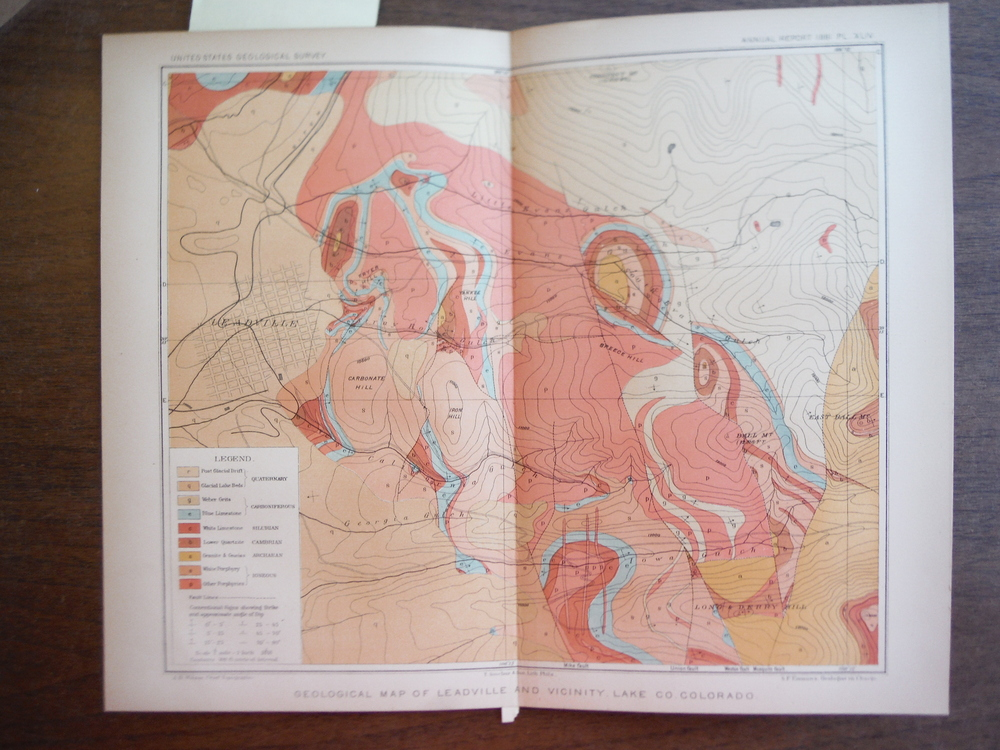 Geological Map of Leadville and Vicinity, Lake Co. Colorado