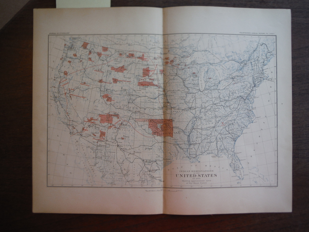 Indian Reservations in the  United States in 1890