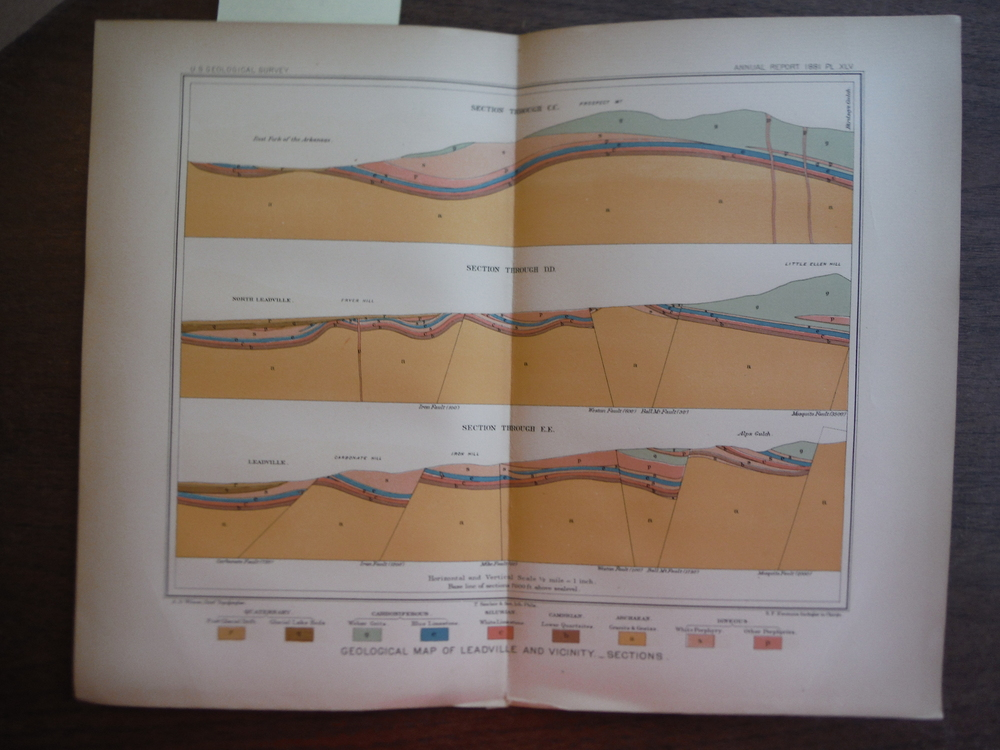 Image 0 of Geological Map of Leadville and Vicinity _ Sections (1881)