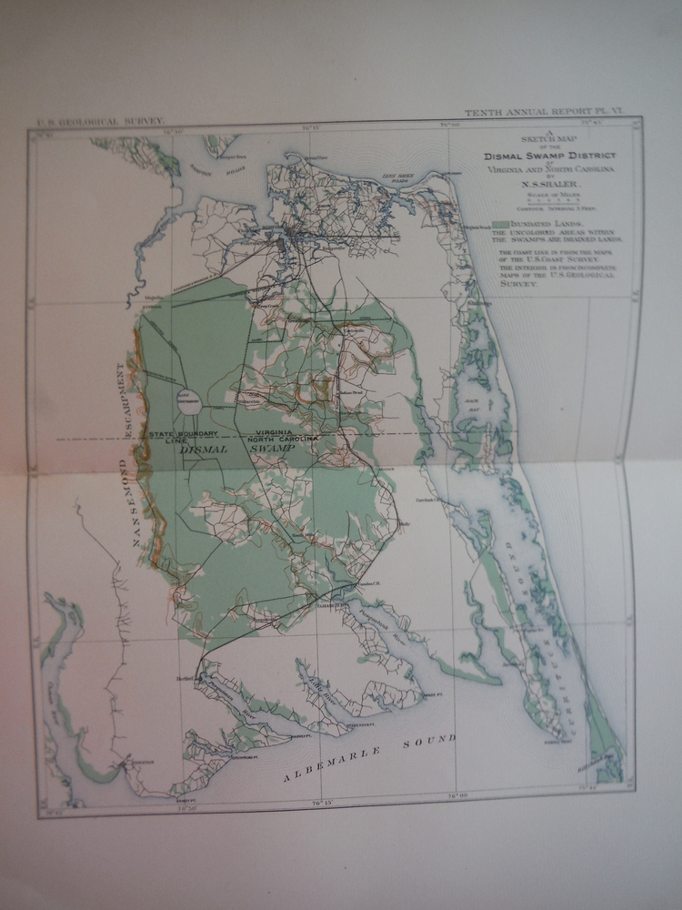 A Sketch Map of the Dismal Swamp District of Virginia and North Carolina