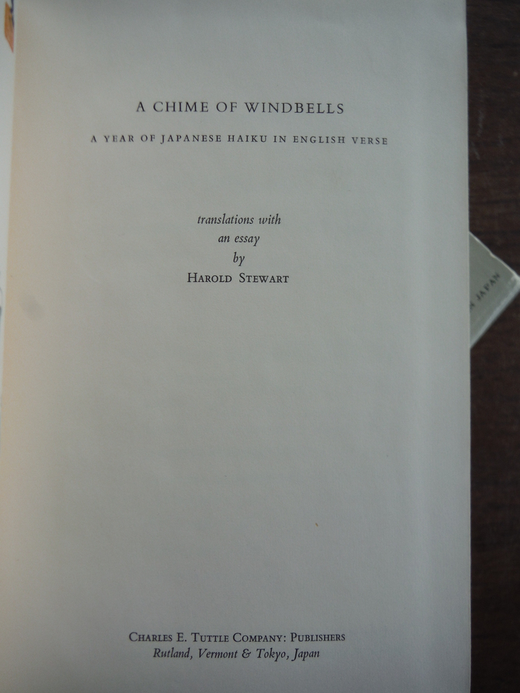 Image 2 of A Chime of Windbells: Year of Japanese Haiku in English Verse by Harold Stewart