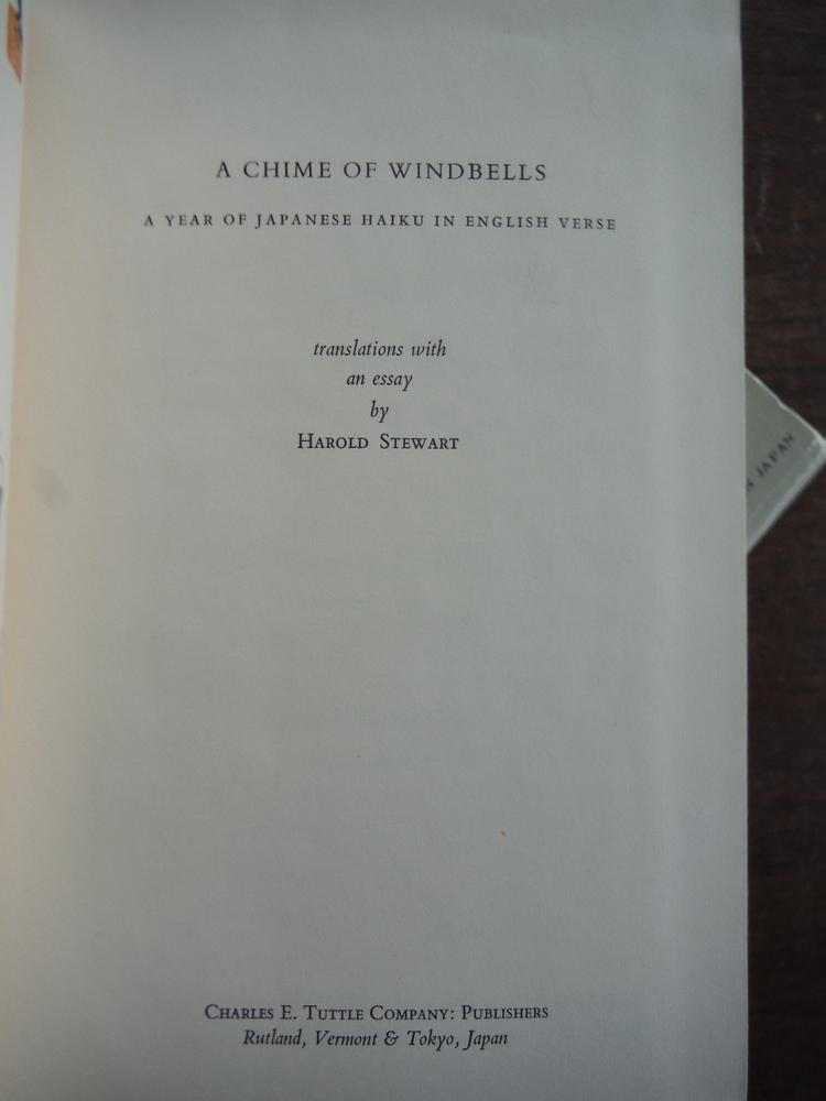 Image 2 of A Chime of Windbells: Year of Japanese Haiku in English Verse by Harold Stewart