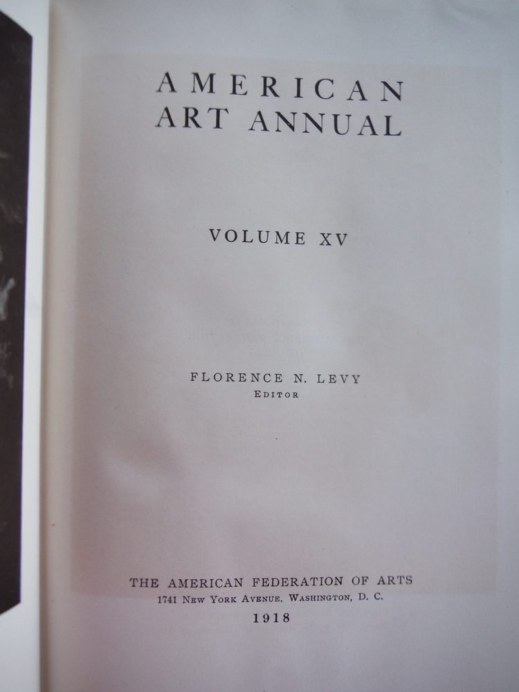 Image 1 of AMERICAN ART ANNUAL, Volume XV.