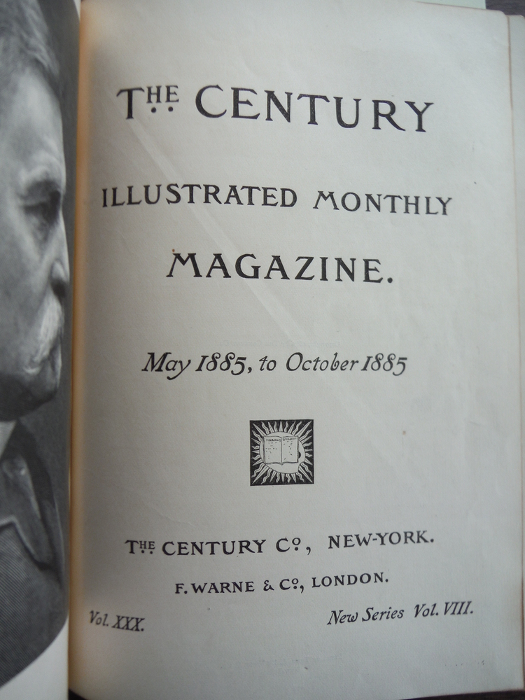 Image 1 of THE CENTURY MAGAZINE VOL. XXX NEW SERIES VOLUME VIII - MAY 1885 TO OCTOBER 1885