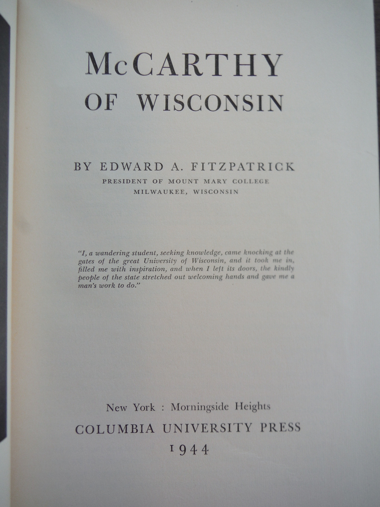 Image 1 of McCarthy of Wisconsin,