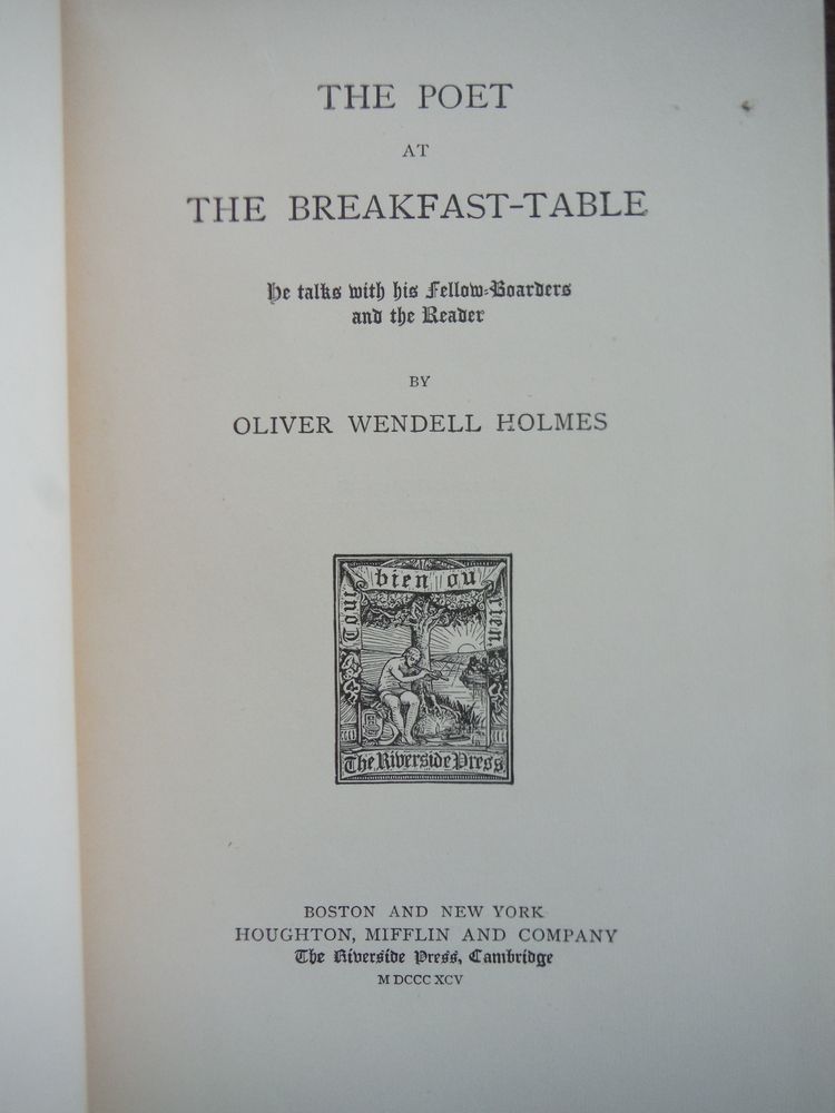 Image 1 of The Poet at the Breakfast Table, he Talks with His Fellow Boarders and the Reade
