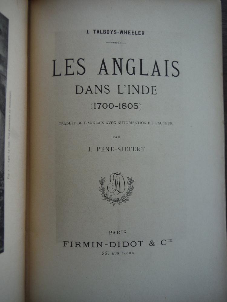 Image 1 of Les Anglais Dans L'Inde (1700-1805)