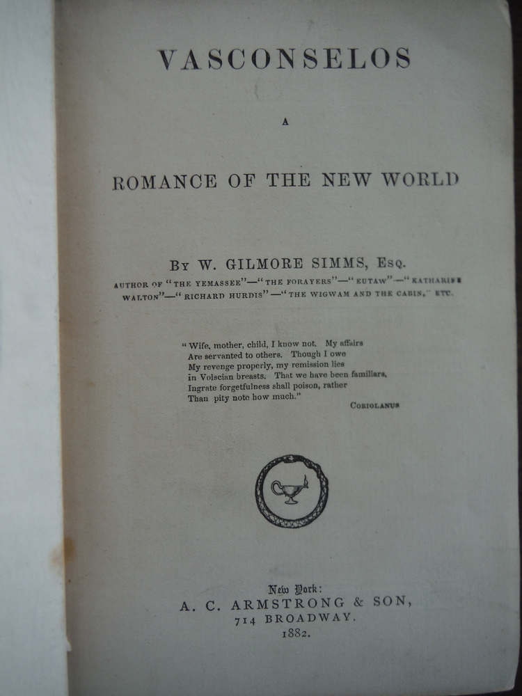Image 1 of Vasconselos A Romance of the New World