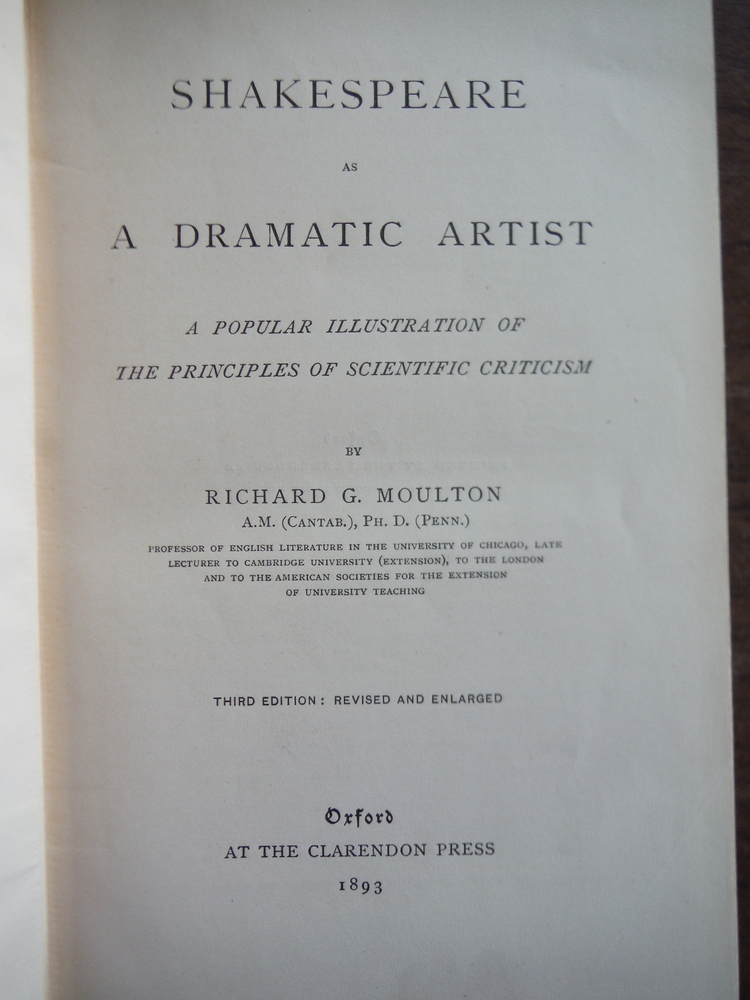 Image 1 of Shakespeare as a Dramatic Artist, A Popular Illustrations of the Principles of S