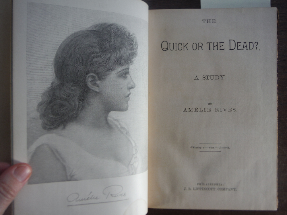 Image 1 of The quick or the dead?: A study, (Lippincott's monthly magazine)