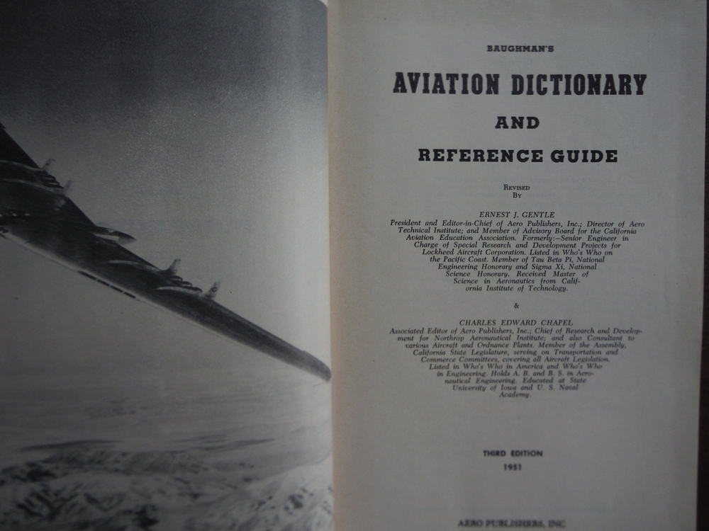 Image 1 of Baughman's Aviation Dictionary and Reference Guide