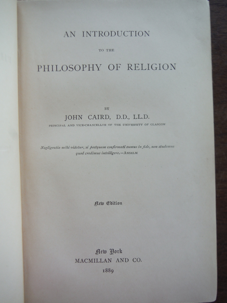 Image 1 of Introduction to the Philosophy of Religion