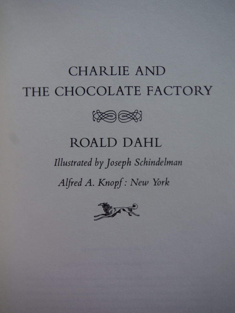 Image 1 of Charlie and the Chocolate Factory Second Issue Five line colophon