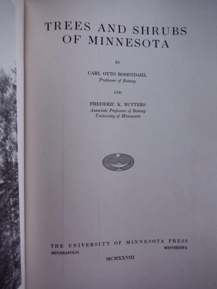 Image 1 of Trees and shrubs of Minnesota,