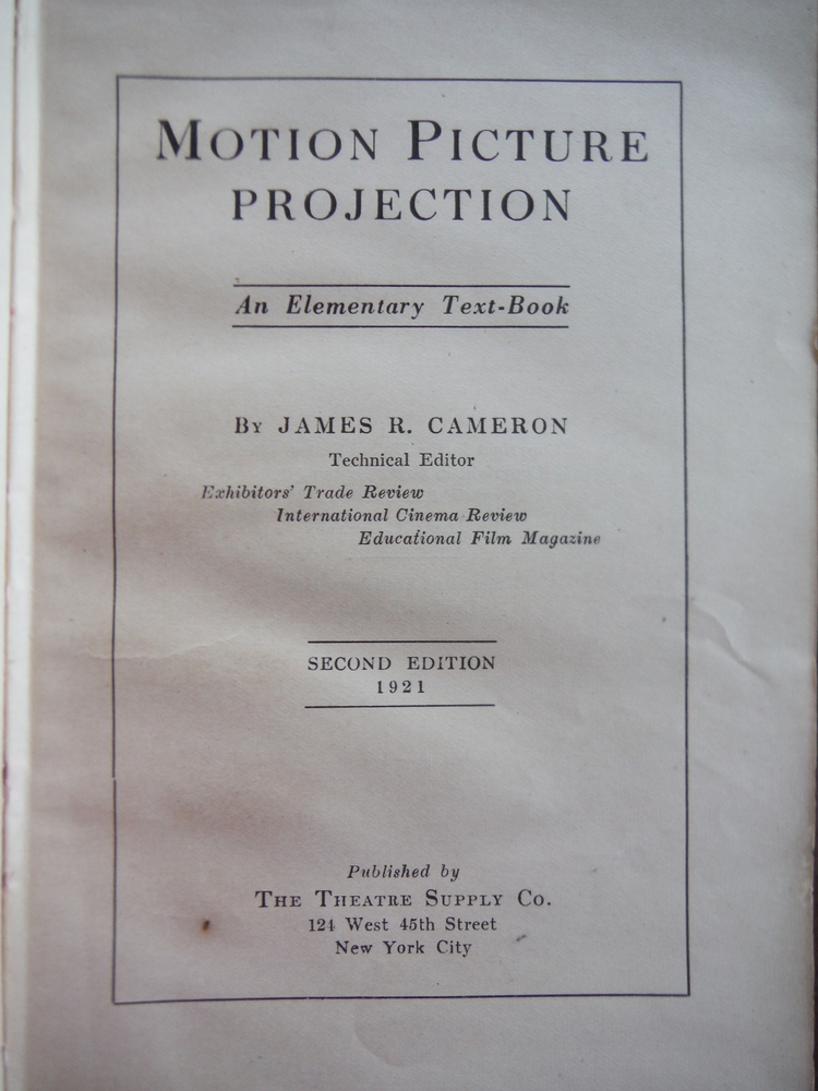 Image 1 of Motion Picture Projection - Elementary Text-book - Second Edition