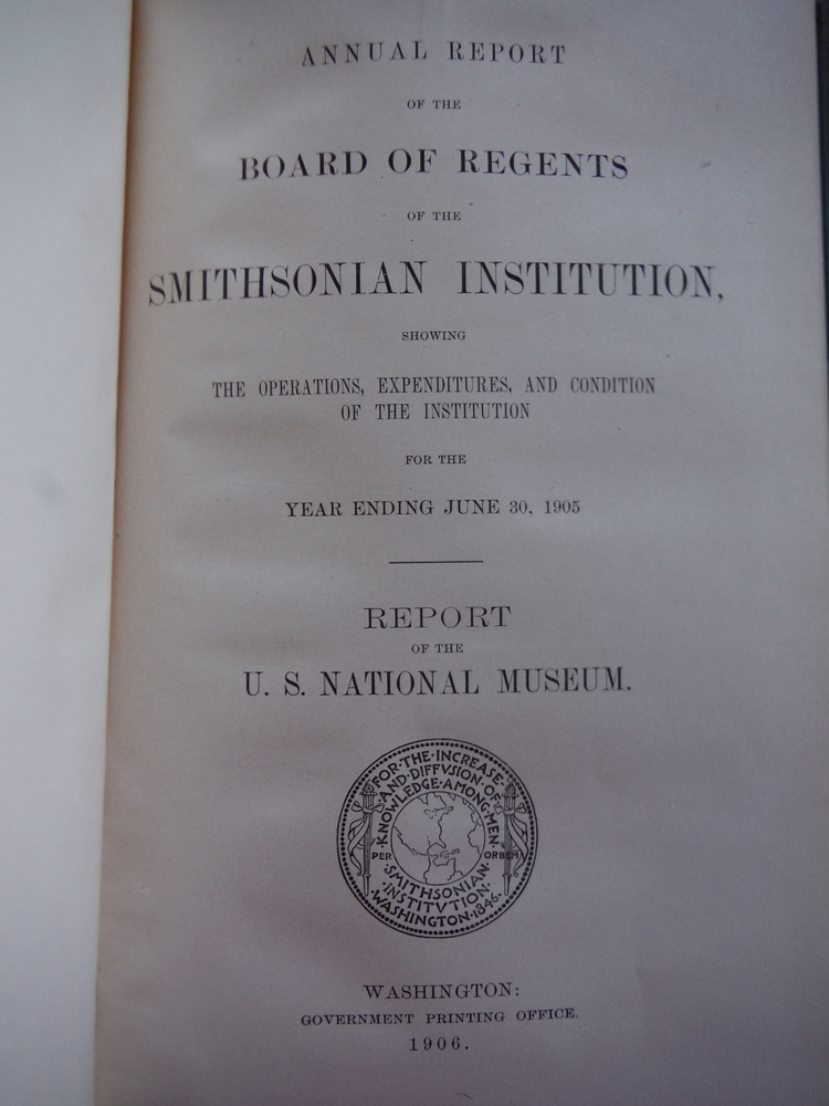 Image 1 of Annual Report of the Board of Regents of the Smithsonian Institution, showing th
