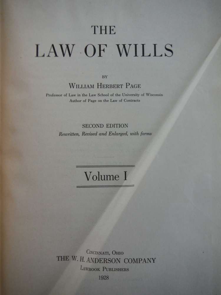 Image 2 of The Law of Wills (2 Vols)