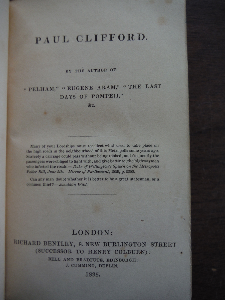 Image 1 of Paul Clifford A Novel