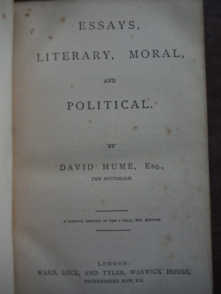Image 1 of Essays - Literary, Moral, and Political. Ward, Lock, and Tyler. [n.d., ca. 1890]