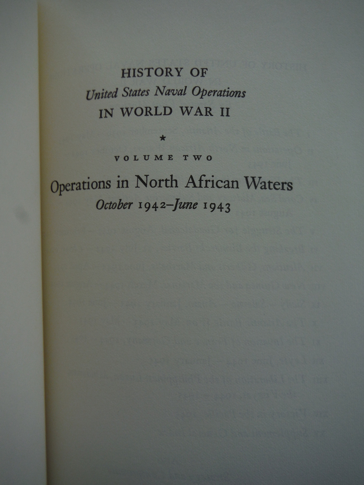 Image 1 of History of the United States Naval Operations in World War II, Vol. II: Operatio
