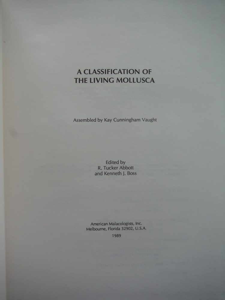 Image 1 of Classification of the Living Mollusca