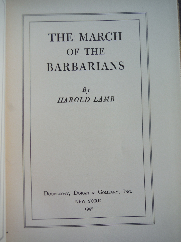 Image 1 of The March of the Barbarians (First Edition)