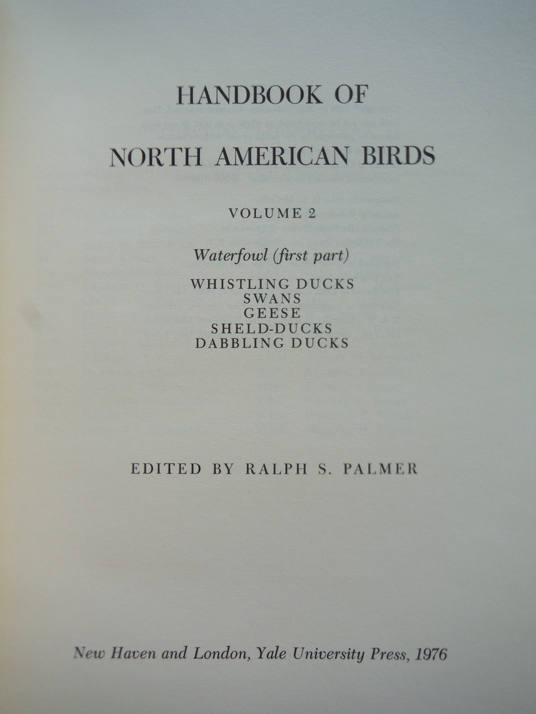 Image 2 of HANDBOOK OF NORTH AMERICAN BIRDS. WATERFOWL. TWO VOLUMES (PART I & 2).