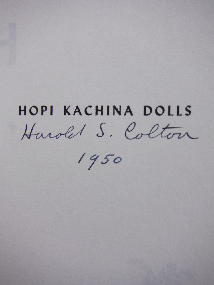 Image 1 of Hopi Kachina Dolls with a Key to Their  Identification(signed first edition)