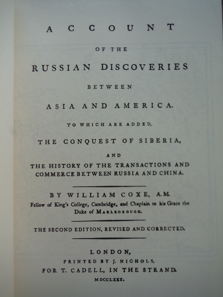Image 2 of The Russian Discoveries Between Asia and America (March of America Facsimile Ser
