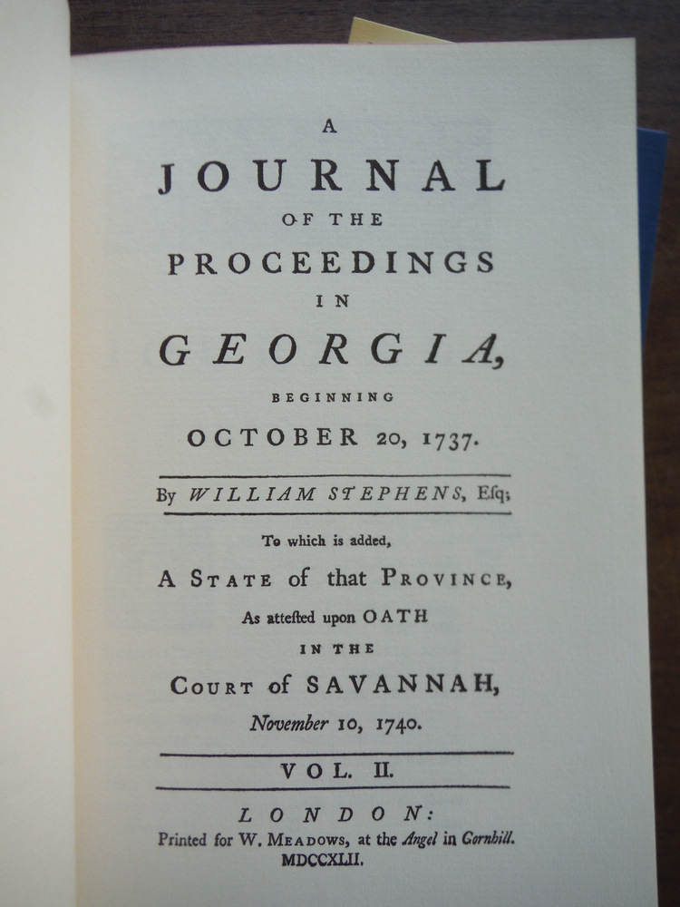 Image 1 of A Journal of the Proceedings in Georgia Beginning October 20, 1737 (March of Ame