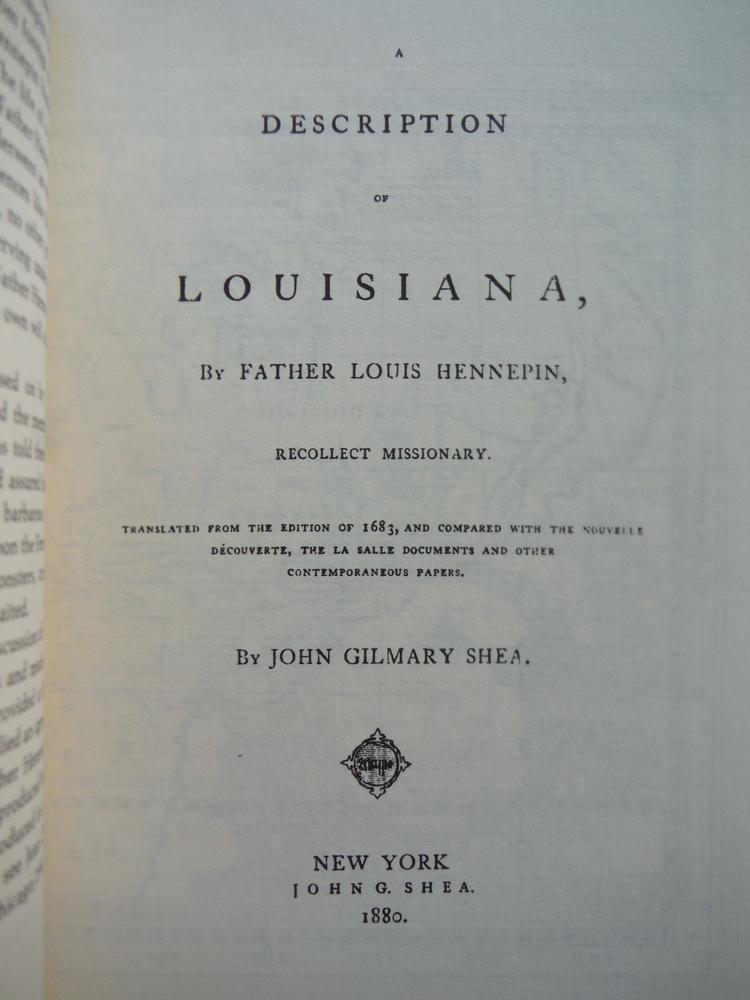 Image 1 of A Description of Louisiana (March of America Facsimile Series 30)