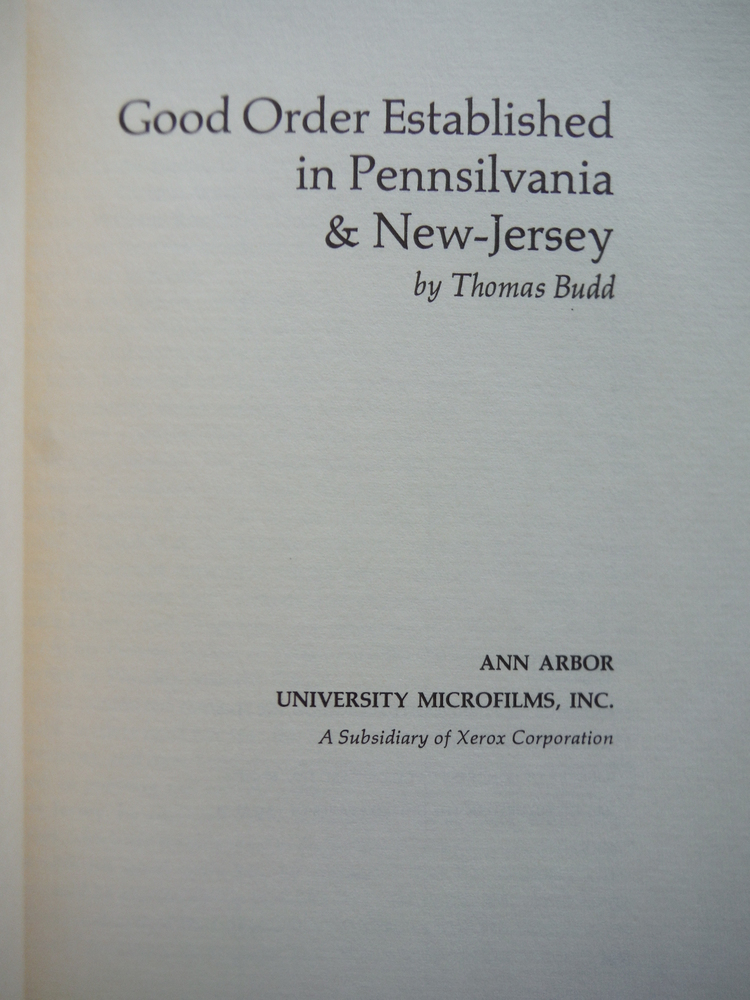 Image 1 of Good order established in Pennsilvania & New-Jersey (March of America facsimile