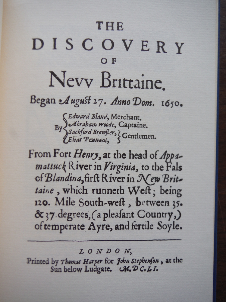 Image 1 of The Discovery of New Brittaine (March of America Facsimile Series No. 24)