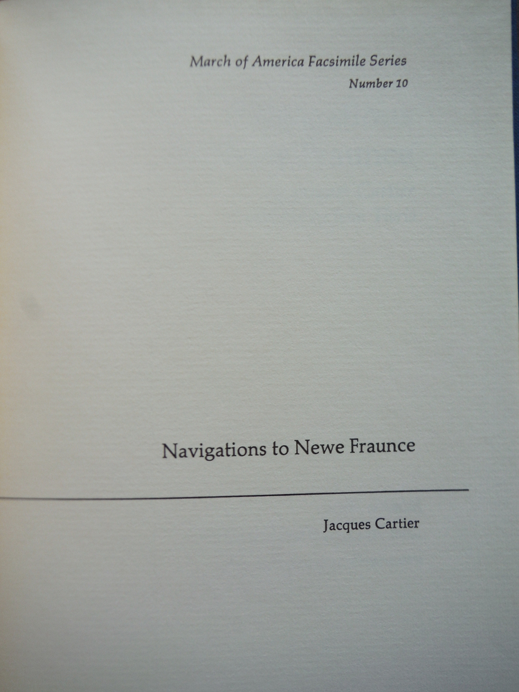 Image 1 of Navigations to Newe Fraunce (March of America facsimile series)