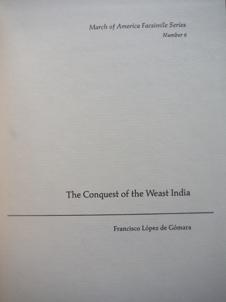 Image 1 of The Conquest of the Weast India (March of America Facsimile Series Number 6)