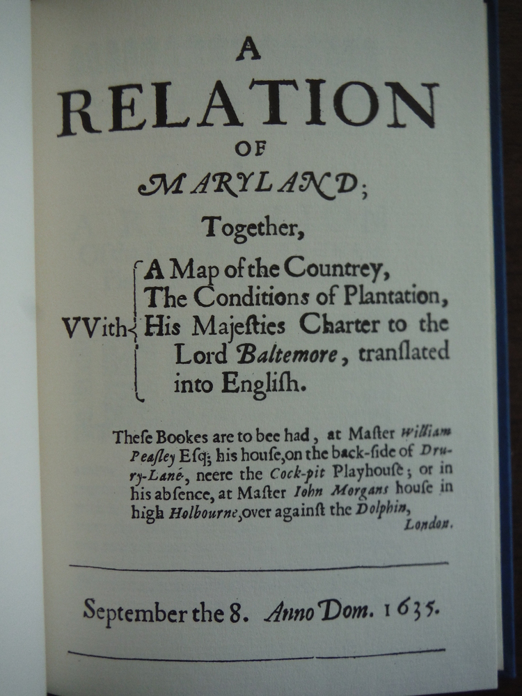 Image 1 of A Relation of Maryland (March of America Facsimile Series No. 22)