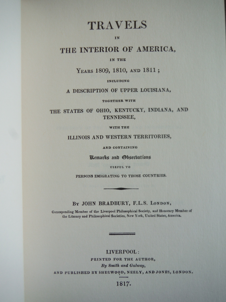 Image 1 of Travels in the interior of America, in the years 1809, 1810, and 1811; : includi