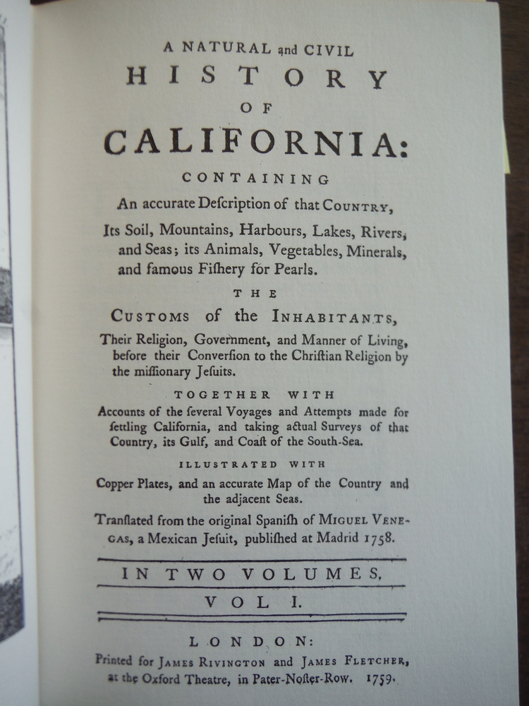 Image 1 of A Natural and Civil History of California, in Two Volumes