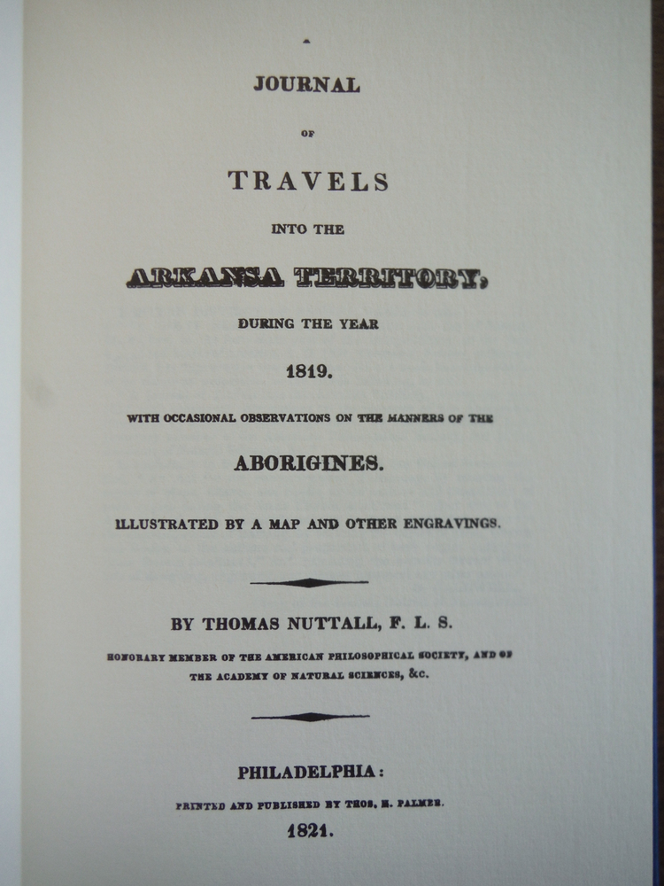 Image 1 of A Journal of Travels Into the Arkansa (Arkansas) Territory, During the Year 1819
