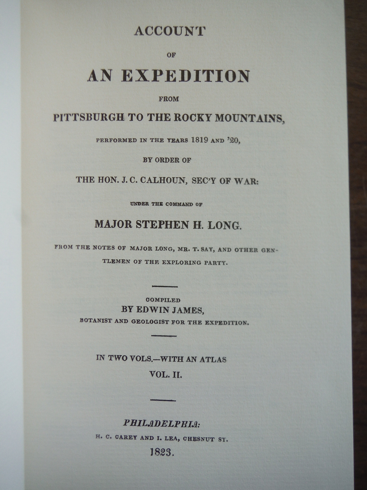 Image 1 of Account of an Expedition from Pittsburgh to the Rocky Mountains, Performed in th
