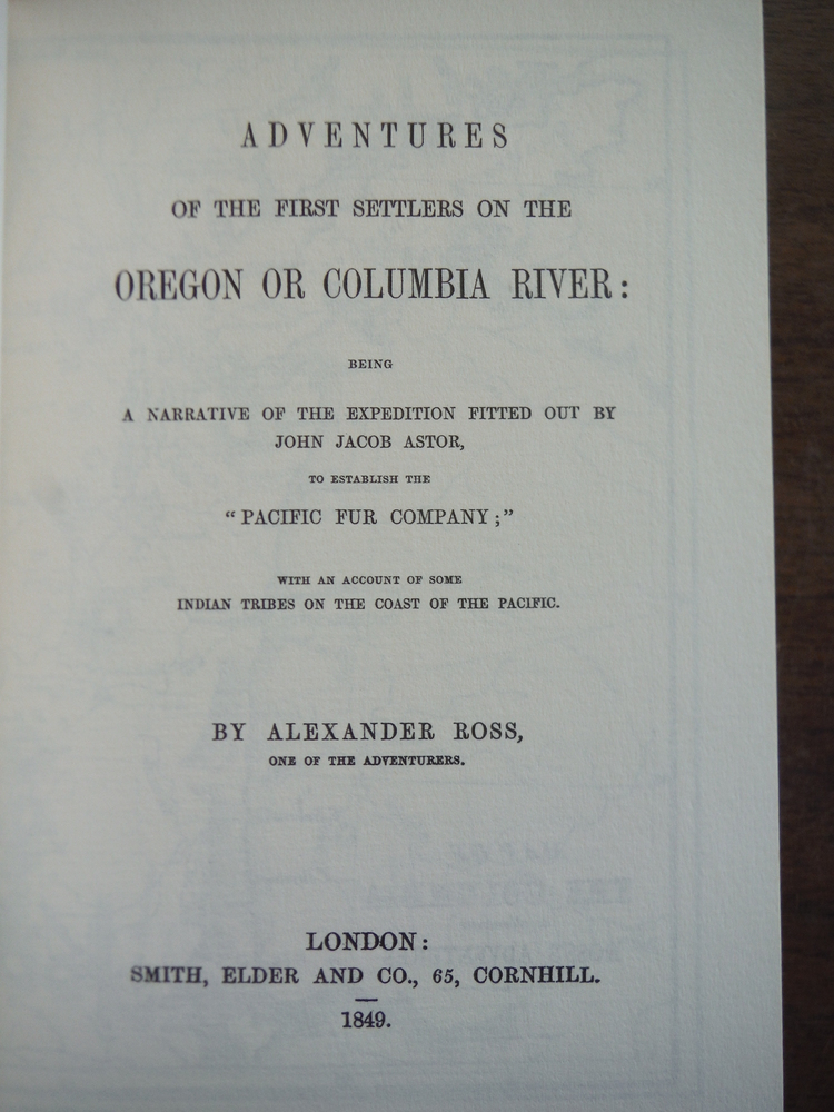 Image 1 of Adventures of the First Settlers on the Columbia River