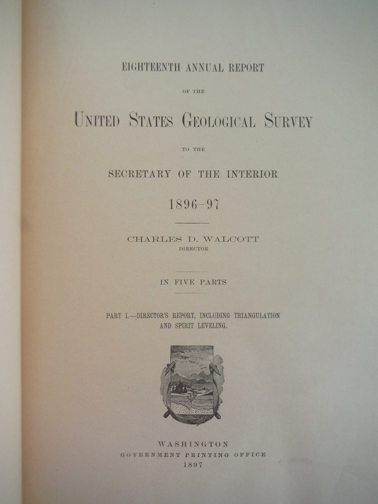 Image 1 of Eighteenth Annual Report of the United States Geological Survey to the Secretary