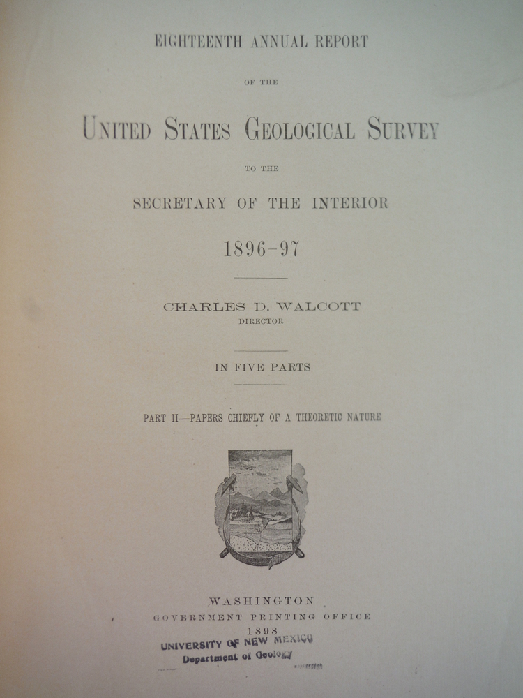Image 1 of Eithteenth Annual Report of the United States Geological Survey to the Secretary