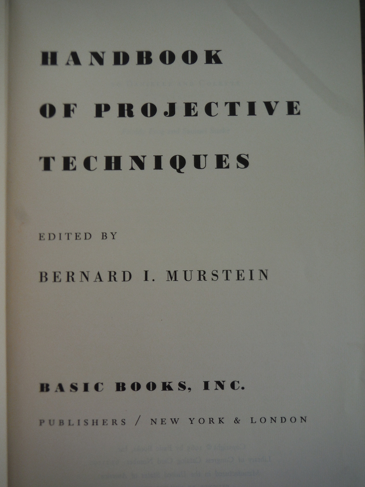 Image 1 of Handbook of Projective Techniques