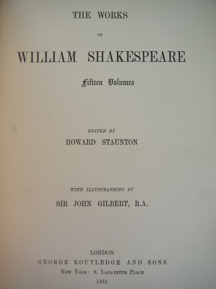 Image 1 of The Works of William Shakespeare in Fifteen Volumes; Volume 12