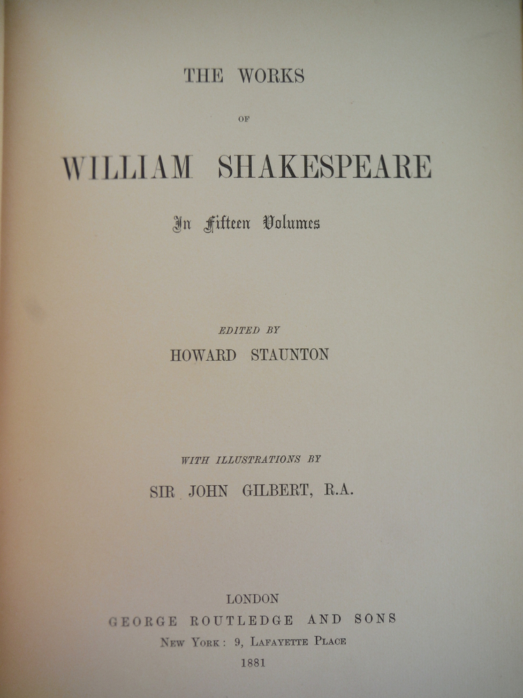 Image 1 of The Works of William Shakespeare in Fifteen Volumes; Volume 5