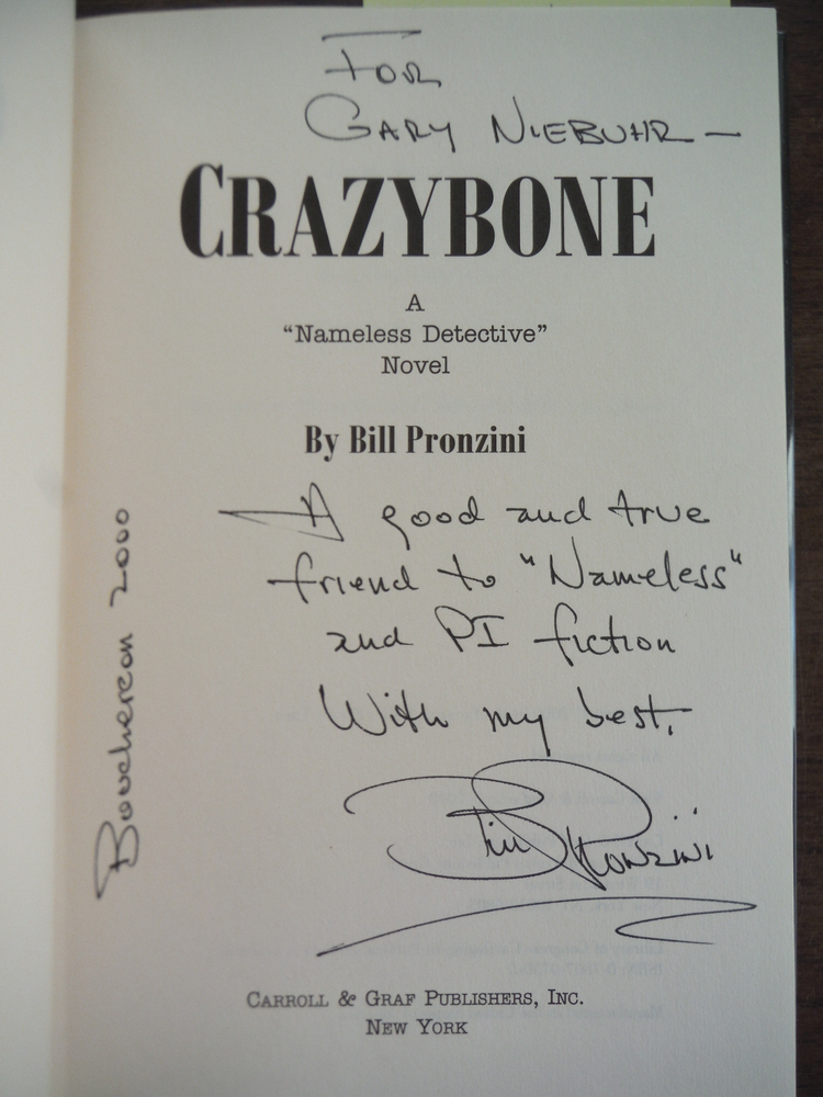 Image 1 of Crazybone (A Nameless Detective novel)