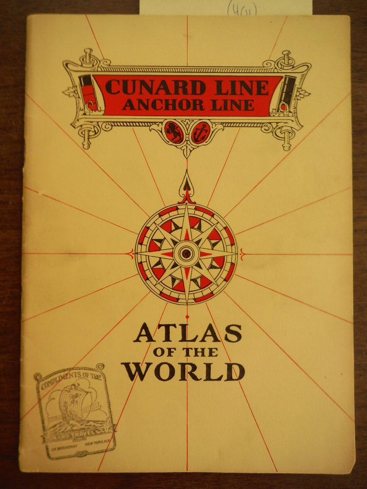 Cunard Line Anchor Line Atlas of the World