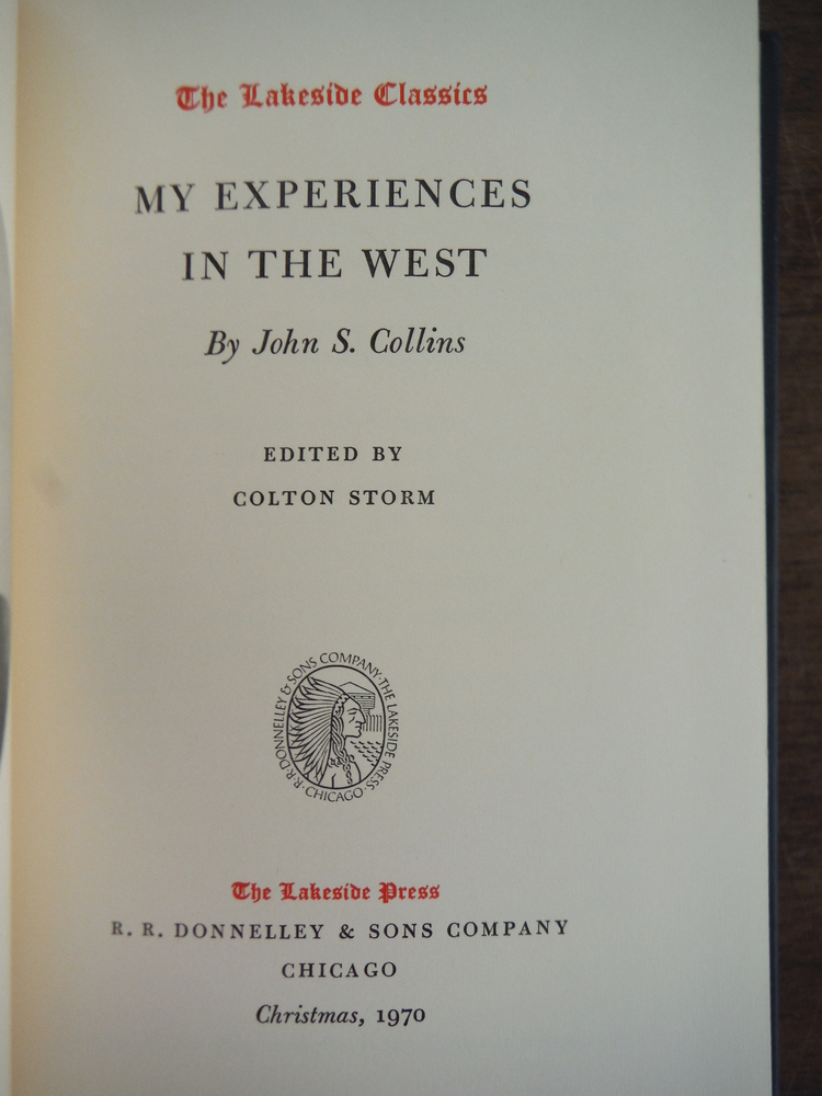Image 1 of My Experiences in the West (The Lakeside classics, no. 68)